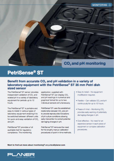 Download our latest PetriSense®ST specification sheet